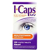 Alcon ICaps Multivitamin Eye Vitamin & Mineral Support, Coated Tablets , 100 tablets ~ ICaps