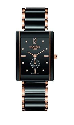 Roamer of Switzerland 690855 49 59 60 - Reloj de pulsera mujer, cerámica, color negro