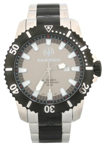 Immersion IM8502 Gents Watch Automatic Analogue Grey Dial Black Steel Strap/Grey