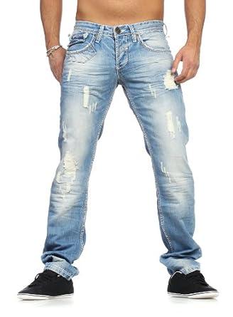 amica herren jeans hose mit hosentr ger vintage hellblau w38 bekleidung. Black Bedroom Furniture Sets. Home Design Ideas