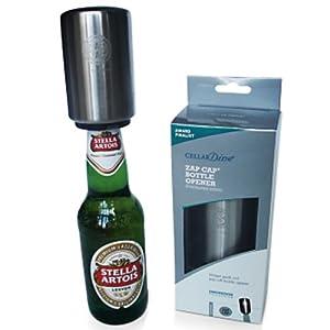 cellardine cd0030 zapcap bottle opener stainless steel bottle popper kitchen dining. Black Bedroom Furniture Sets. Home Design Ideas