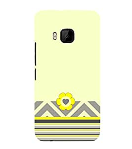 Cute Flower Art Cute Fashion 3D Hard Polycarbonate Designer Back Case Cover for HTC One M9 :: HTC One M9S :: HTC M9 :: HTC One Hima