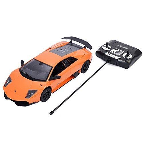 Safstar 1/14 4CH Radio Remote Control Lamborghini Murcielago LP670-4 Super Veloce Model Car (Orange)