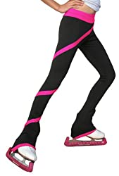 ChloeNoel P06 Ice Skating Stretch Polyester Spandex Spiral Pants