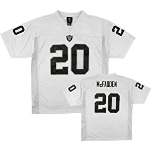 Darren McFadden #20 Oakland Raiders NFL Youth Jersey White (Youth Large 14 16) by OuterStuff