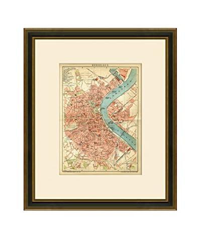Antique Map of Bordeaux, 1894-1904