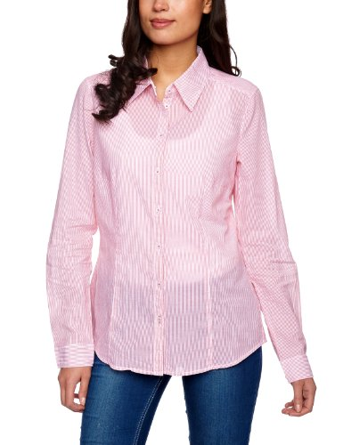 ESPRIT Two Tone Stripe Collared Women's Blouse