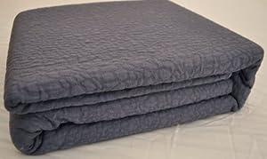 Natural Comfort Matelasse Blanket Coverlet, Queen, Pebble