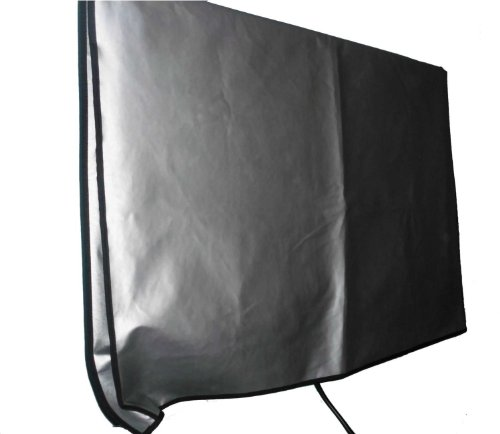 """Large Flat Screen Tv (39"""") Vinyl Padded Dust Silver Color Covers Ideal For Outdoor Locations Such As Restaurants, Hotels, Marinas Or Poolside Locations (39"""" Cover - 35.75"""" X 3.75"""" X 21.5"""")"""