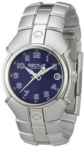 Sector R3253195035 - Reloj analógico unisex de cuarzo con correa de aluminio plateada