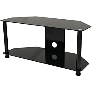 Buying Guide of  Hartleys Glass Double Shelf TV Stand For Screens Up To 42″