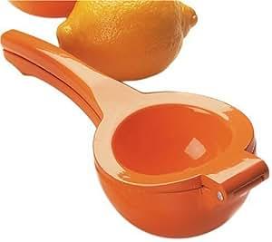 Amco Enameled Aluminum Squeezer, Orange