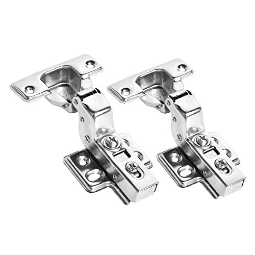 LOHOME Concealed Hinge - 2-pieces Stainless Steel Face Frame Mounting Furniture Hinges Soft Slow Self Closing Kitchen Cabinet Door Hinges (Slow Closing Hardware compare prices)