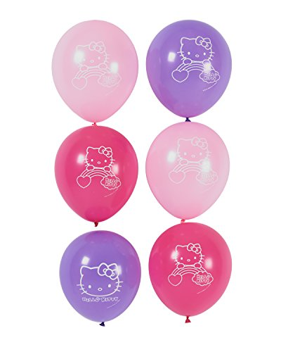 Hello-Kitty-Rainbow-Printed-Latex-Balloons-Birthday-Party-Decorations-6-Pack-Multi-Color-65-x-47