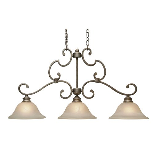 B001MF1IYY Golden Lighting 2488-10 FI Rockefeller Island Light, Forged Iron Finish