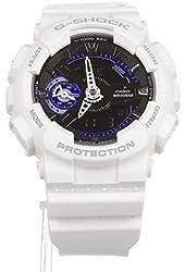 Casio G-Shock GMAS110CW-7A3 Fashion Watch Cool White w/ Black/Blue Face