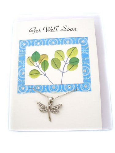 Fashion Jewelry ~ Get Well Soon Message Card