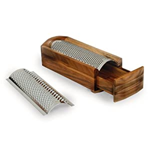 Enrico 1005 Cheese Grater and Shredder, Acacia Wood by Enrico