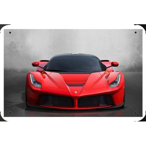 "Amazon.com - Ferrari Laferrari 2014 Metal Poster Tin Plate Sign 8""x12"