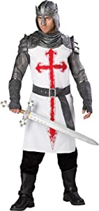 InCharacter Costumes, LLC Men's Crusader Costume, White/Gray, X-Large