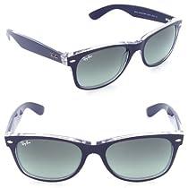 Ray Ban RB2132 Wayfarer Sunglasses-605371 Blue/Transparent (Gray Grad Lens)-55mm