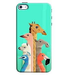 Blue Throat Animal Neck Pattern Printed Designer Back Cover/ Case For Apple iPhone 4s