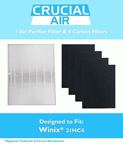 Winix 115115 Filter + 4 Carbon Filters PlasmaWave Size 21 5300 5500 6300