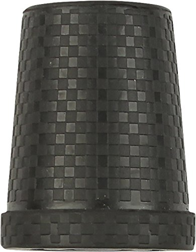 Black Steel Inserted Rubber Cane Tip with Carbon Fiber Pattern