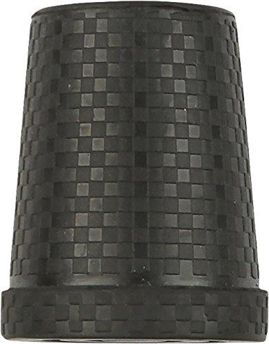 Black Steel Inserted Rubber Cane Tip with Carbon Fiber Pattern