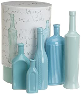 Rosanna Beach Bottles Vases, Set of 5