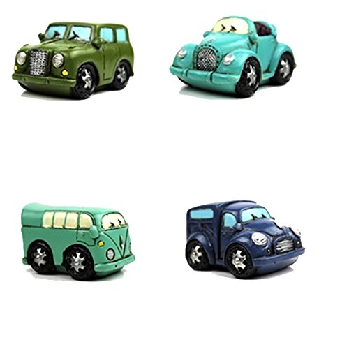 Creative Gifts Resinous Small Ornaments Vintage Car Model(Army green 6.5cm)
