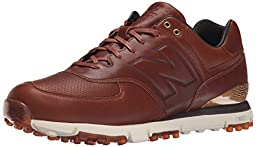 New Balance Men\'s NBG574LX Golf Shoe, Brown, 10.5 D US