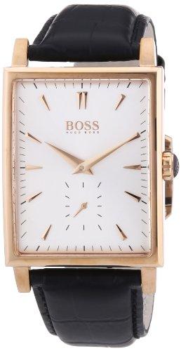 Hugo Boss 1512785 - Reloj analógico de cuarzo para hombre con correa de piel, color negro