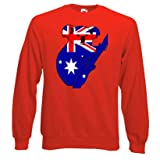 Australian Flag Koala, Sweatshirt, Red size Large