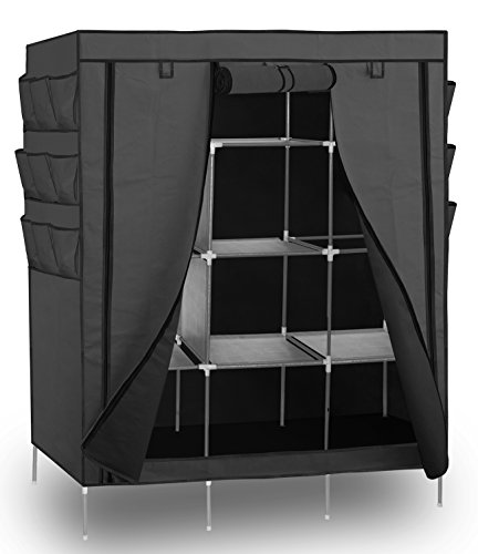 portable-storage-organizer-wardrobe-closet-shoe-rack-gray-13-shelves-with-sturdy-rust-proof-stainles