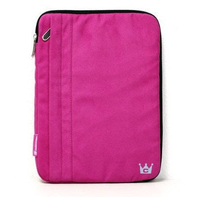 CaseCrown Faux Suede Zip Sleeve Case (Fuschia) to Protect the Apple iPad Wifi / 3G Model 16GB, 32GB, 64GB