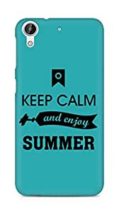 Amez Keey Calm and Enjoy Summer Back Cover For HTC Desire 626 G