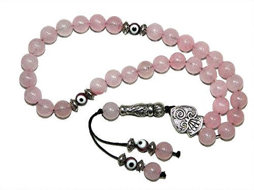 A2-0404 - Prayer Beads Worry Beads Tasbih 8mm Rose Quartz Gemstone Beads Handmade by Jeannieparnell