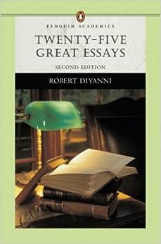 50 great essays robert diyanni