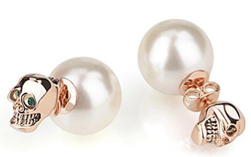 saysure-18-k-plaque-or-blanc-rose-boucles-doreilles-clous-perles-poire-va-et-vient-rose-gold-white
