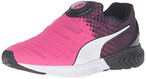 PUMA Women's Ignite Dual Disc Wn's Running Shoe, Pink Glow/Puma Black, 10 M US