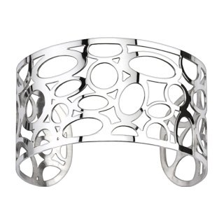 Bubble & Circular Pattern Cuff Bangle Bracelet