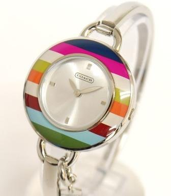 Coach women's bangle watch Phoebe collection multi color bezel 14501302