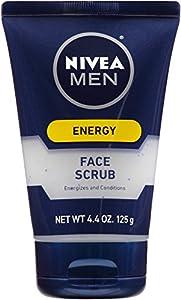 Nivea for Men Energy Face Scrub, 4.4 Ounce Tube