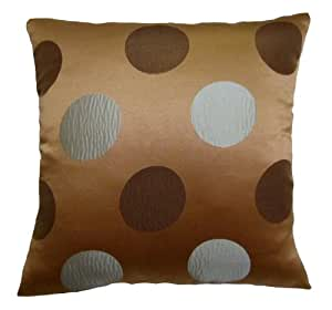 Amazon.com - 20x20 Blue and Brown Polka Dots Decorative Throw Pillow Cover