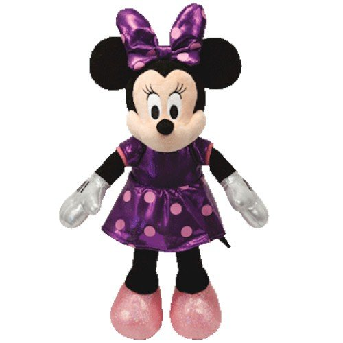 Ty Beanie Buddies Minnie Purple Sparkle Medium Plush - 1