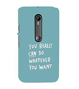 EPICCASE You can do Mobile Back Case Cover For Moto X Style (Designer Case)