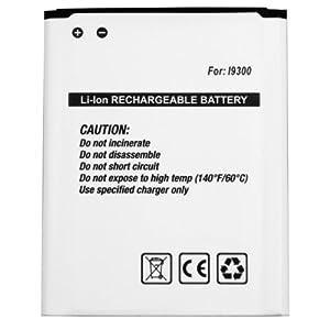 mumbi Batterie supplémentaire Samsung Galaxy S3 i9300 - S III Accu Lithium-Ionen.