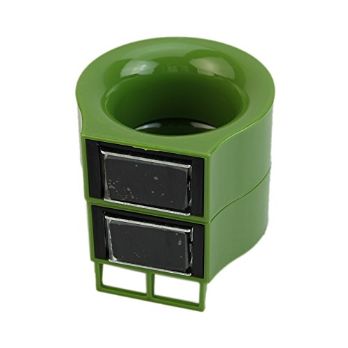 Julyshop 1 Pair Portable Home Office Plastic Universal Magnetic Umbrella Stand Set Rack (Green)