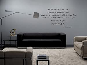 The Notebook So It's Not Gonna Be Easy It's Going To Be Really Hard Vinyl Wall Decal
